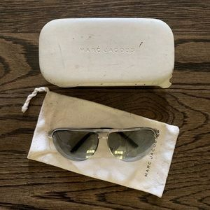 Marc Jacobs Accessories - Marc Jacobs Silver Aviator Sunglasses